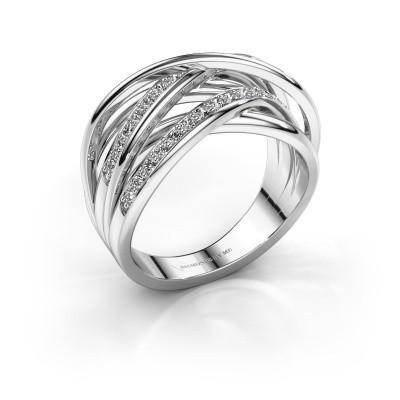 Ring Fem 2 585 witgoud diamant 0.450 crt