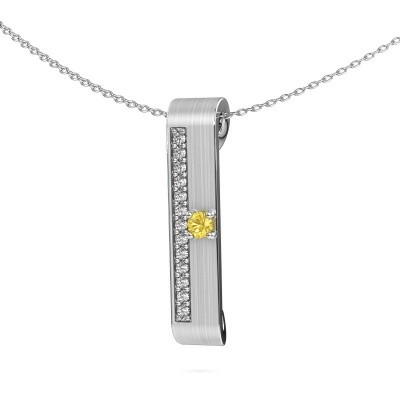 Picture of Necklace Vicki 950 platinum yellow sapphire 3 mm