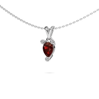 Picture of Necklace Cornelia Pear 950 platinum garnet 7x5 mm
