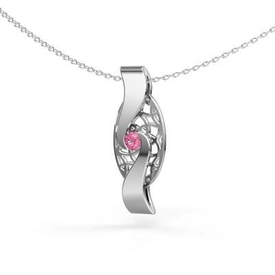 Bild von Anhänger Darleen 925 Silber Pink Saphir 3 mm
