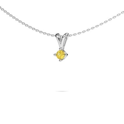 Picture of Necklace Jannette 950 platinum yellow sapphire 3.7 mm