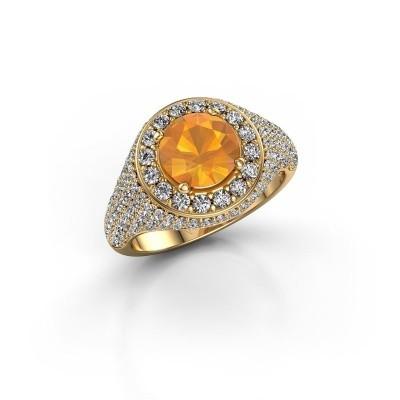 Foto van Ring Dayle 375 goud citrien 7 mm