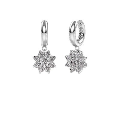 Picture of Drop earrings Geneva 1 585 white gold zirconia 4.5 mm