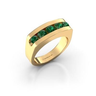 Foto van Heren ring Richard 375 goud smaragd 4 mm