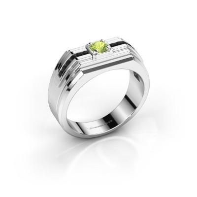 Foto van Heren ring Oliver 925 zilver peridoot 4 mm