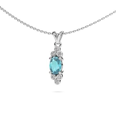 Picture of Pendant Lucy 2 585 white gold blue topaz 7x5 mm