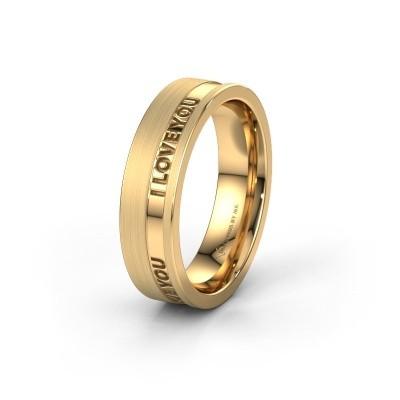 Trouwring WH2076M16CPM 585 goud ±6x2.2 mm