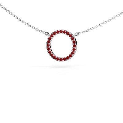 Picture of Pendant Circle 585 white gold ruby 1.2 mm