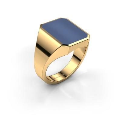Bild von Siegelring Lars 4 585 Gold Blau Lagenstein 15x12 mm