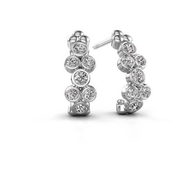 Picture of Earrings Kayleigh 925 silver zirconia 2.4 mm