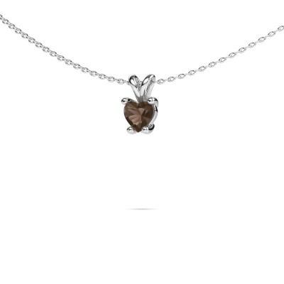 Picture of Necklace Sam Heart 950 platinum smokey quartz 5 mm