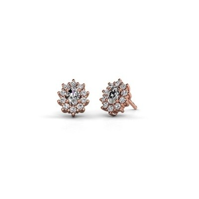 Picture of Earrings Leesa 375 rose gold zirconia 6x4 mm