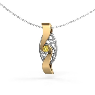 Picture of Pendant Darleen 585 gold yellow sapphire 3 mm