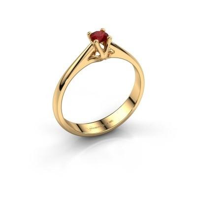 Foto van Verlovingsring Janna 1 750 goud robijn 3.4 mm