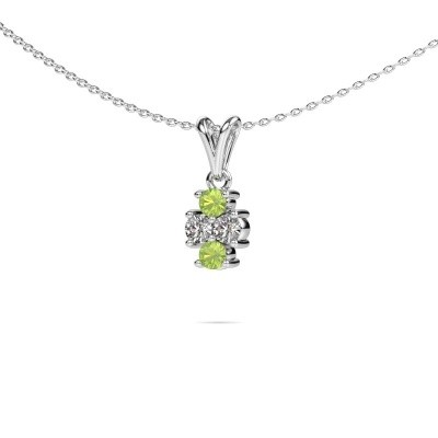 Picture of Necklace Richelle 925 silver peridot 3 mm