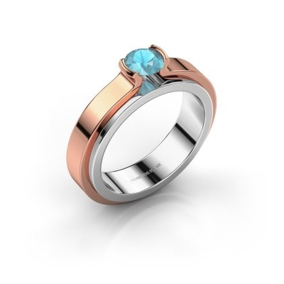 Engagement ring Jacinda 585 white gold blue topaz 4.7 mm