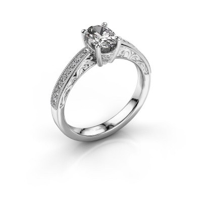 Foto van Verlovingsring Shonta OVL 585 witgoud diamant 0.93 crt