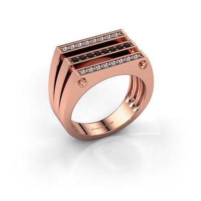 Foto van Heren ring Jauke 585 rosé goud zwarte diamant 0.512 crt