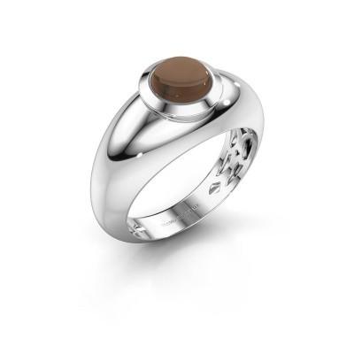 Picture of Ring Sharika 585 white gold smokey quartz 6 mm