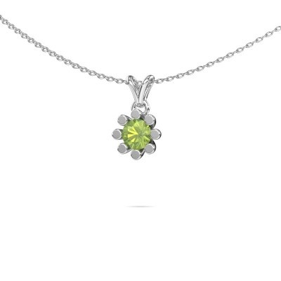 Picture of Pendant Carola 1 375 white gold peridot 5 mm
