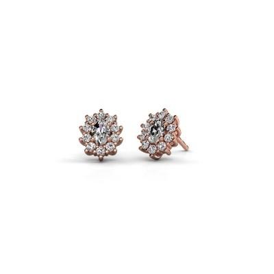 Bild von Ohrringe Leesa 375 Roségold Diamant 1.60 crt