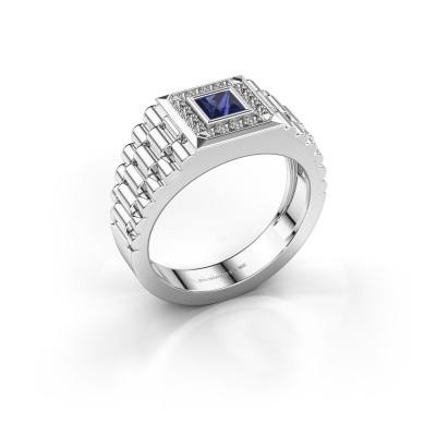 Foto van Rolex stijl ring Zilan 950 platina saffier 4 mm