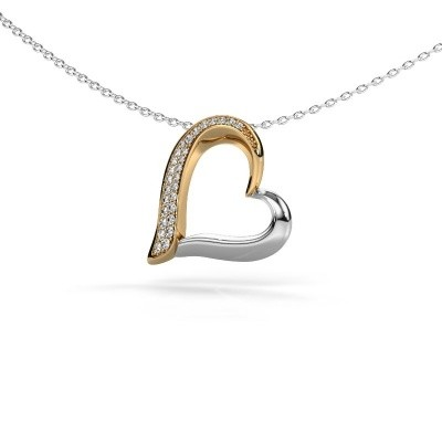 Picture of Necklace Heart 1 585 gold diamond 0.134 crt