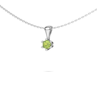 Picture of Necklace Fay 585 white gold peridot 4 mm