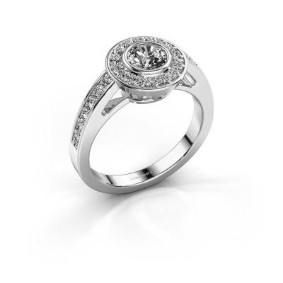 Verlovingsring Raven 1 585 witgoud diamant 0.932 crt
