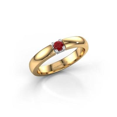 Foto van Verlovingsring Rianne 1 585 goud robijn 3 mm