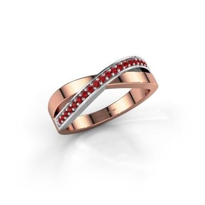 Foto van Ring Kaley 585 rosé goud robijn 1.2 mm