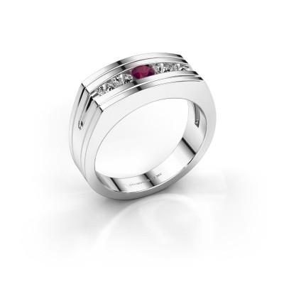Foto van Heren ring Huub 950 platina rhodoliet 3.7 mm