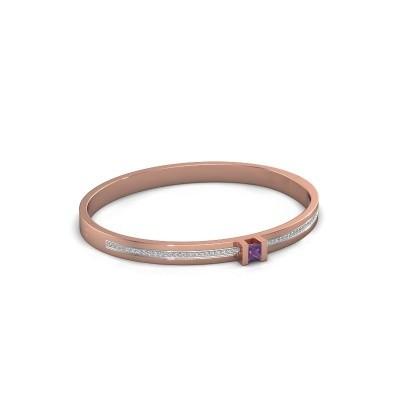 Foto van Armband Desire 585 rosé goud amethist 4 mm