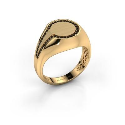 Foto van Heren ring Gijs 585 goud zwarte diamant 0.264 crt