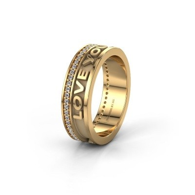 Ehering namering 2 585 Gold ±6x2 mm