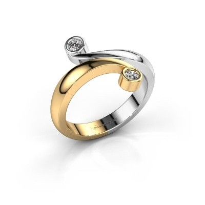 Ring Hilary 585 goud diamant 0.12 crt