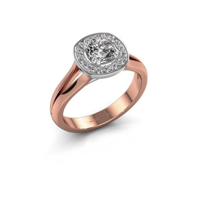 Foto van Ring Carolina 1 585 rosé goud diamant 0.66 crt