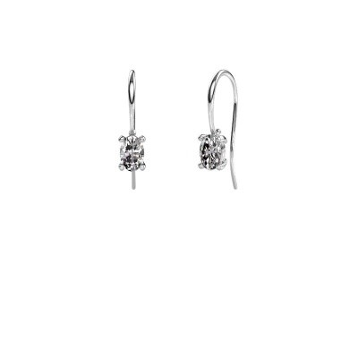Picture of Drop earrings Cleo 375 white gold zirconia 6x4 mm
