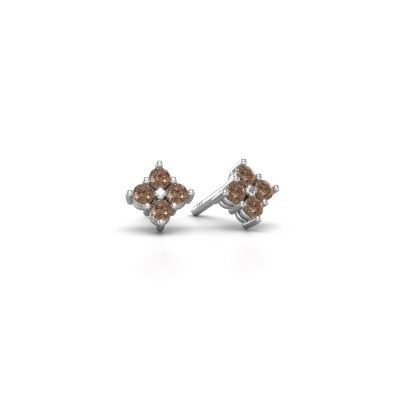 Picture of Stud earrings Maryetta 925 silver brown diamond 0.24 crt