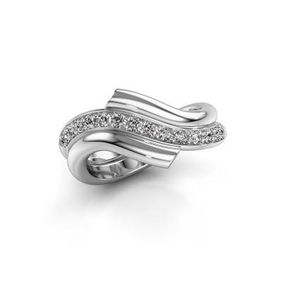 Ring Guusje 585 witgoud diamant 0.35 crt