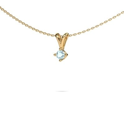 Picture of Necklace Jannette 375 gold aquamarine 3.7 mm