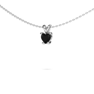 Picture of Necklace Sam Heart 950 platinum black diamond 0.60 crt