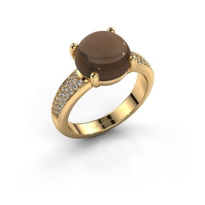 Foto van Ring Sophie 585 goud rookkwarts 10 mm