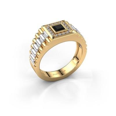 Foto van Rolex stijl ring Zilan 585 goud zwarte diamant 0.672 crt