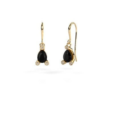 Picture of Drop earrings Bunny 1 585 gold black diamond 1.605 crt