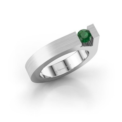 Picture of Ring Aisha 750 white gold emerald 4.2 mm