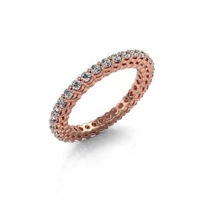 Foto van Aanschuifring Rufina 3 375 rosé goud diamant 0.896 crt