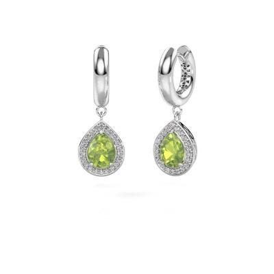 Picture of Drop earrings Barbar 1 925 silver peridot 8x6 mm