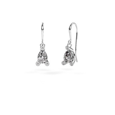 Picture of Drop earrings Bunny 1 375 white gold zirconia 7x5 mm
