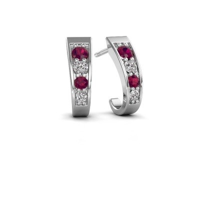 Picture of Earrings Glady 925 silver rhodolite 3 mm